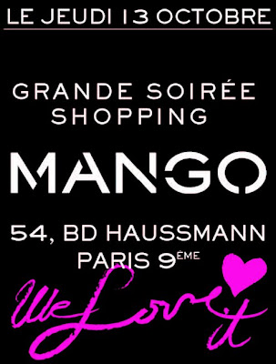 Shopping Party MANGO | Save the date !