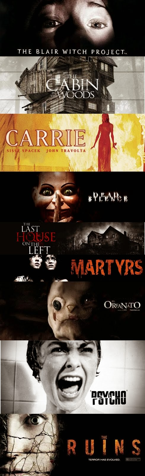 Some of my favorite horror movies!
