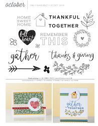 Close to My Heart - October 2018 Stamp of the Month
