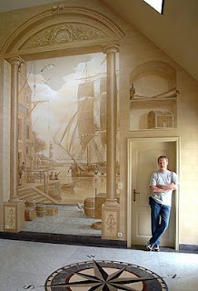 3D wall painting optical illusions