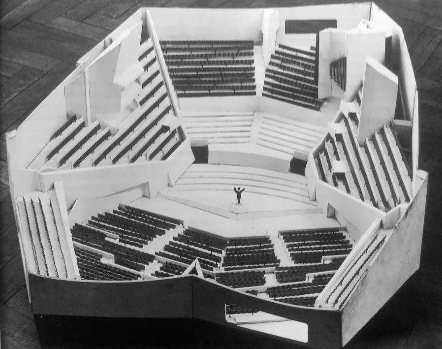 Hans+scharoun,+nueva+filarmon%c3%ada+de+berl%c3%adn,+berl%c3%adn,+maqueta,+1960-1963,+imagen_fuente+desconocida