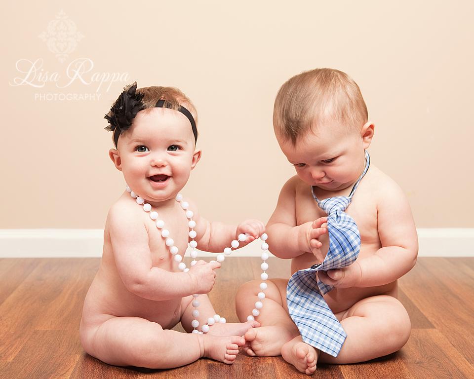 and Gabi's 7 Month Old Twins Studio Session! {Lisa Rappa Photography ...