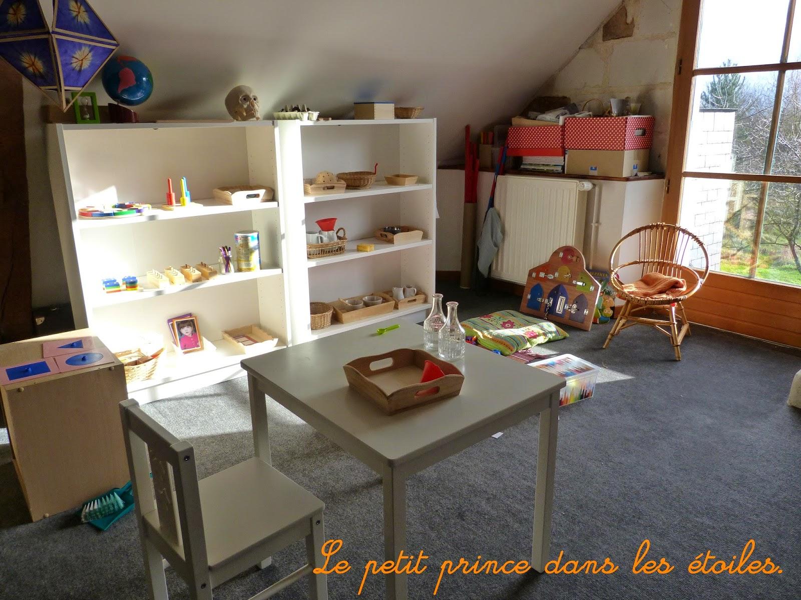 Le petit prince dans les étoiles.: notre petit coin montessori...
