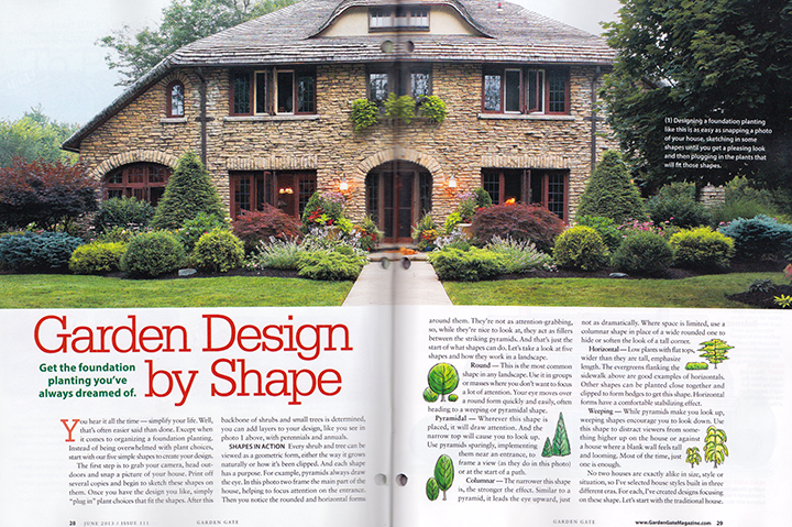 Buffalo area garden in Garden Gate magazine
