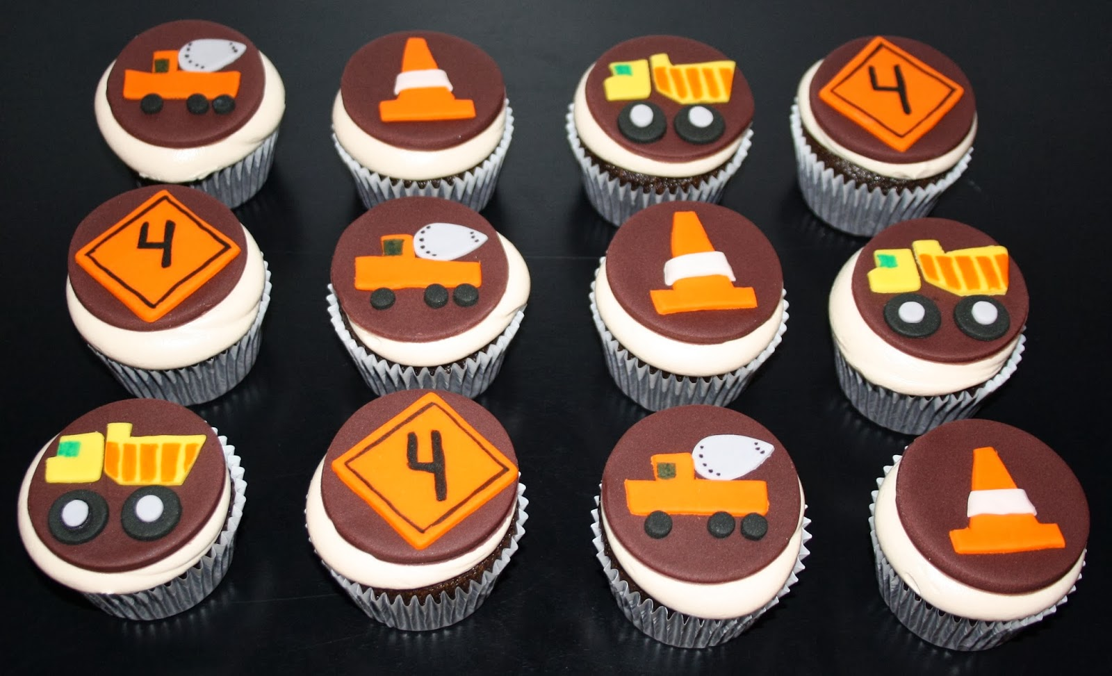 Jacqueline S Sweet Shop Construction Theme Birthday Cupcakes