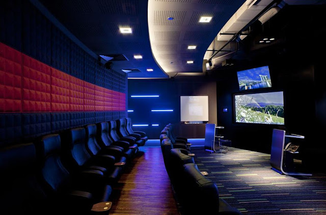 Mini theatre at Microsoft's Singapore office