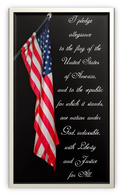 Free Pledge of Allegiance printable from Antonella