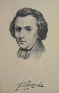 Chopin Portrait, Vintage Postcard from Maja Trochimczyk's Collection