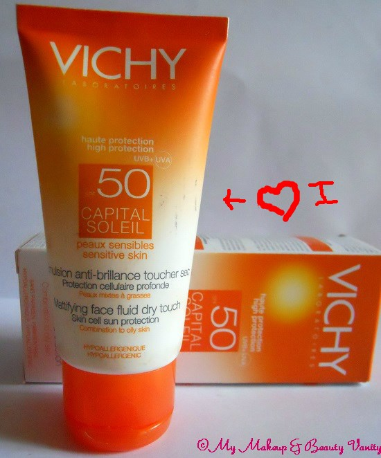 Vichy Capital Soleil Mattifying Face Fluid Dry Touch 50++best vichy suncreen+oily skin