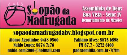 Facebook: Projeto Missionário Sopão da Madrugada