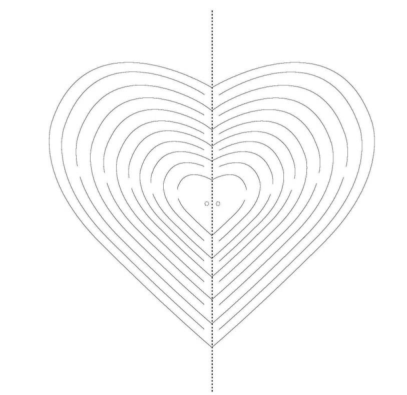 Объемная открытка сердце схема 70