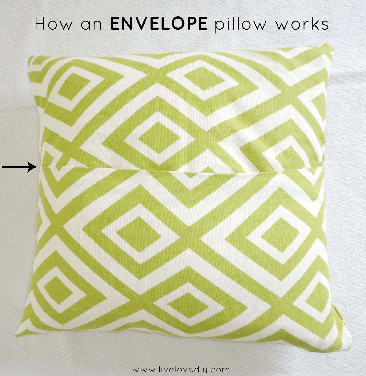 How To Make A Throw Pillow Cover : LiveLoveDIY: How To Make A Pillow With Glue