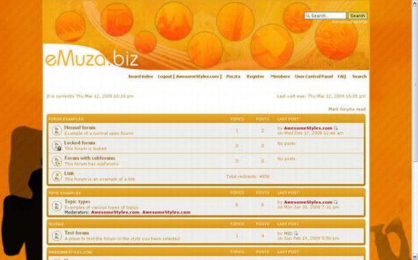 Yellow Orange Grunge Free Php-fusion Style Theme