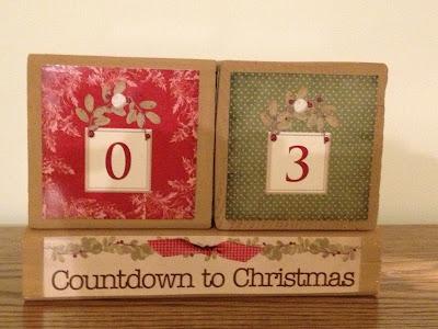 xmas countdown blocks
