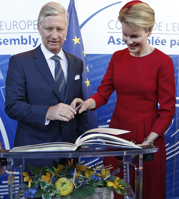 King Philippe of Belgium and Queen Matthilde of Belgium visits the Parliamentary Assembly of the Council of Europe
