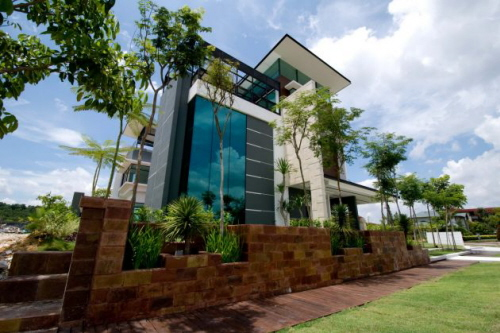 Minimalist home design by arkitek axis kuala lumpur for Arkitek home plans