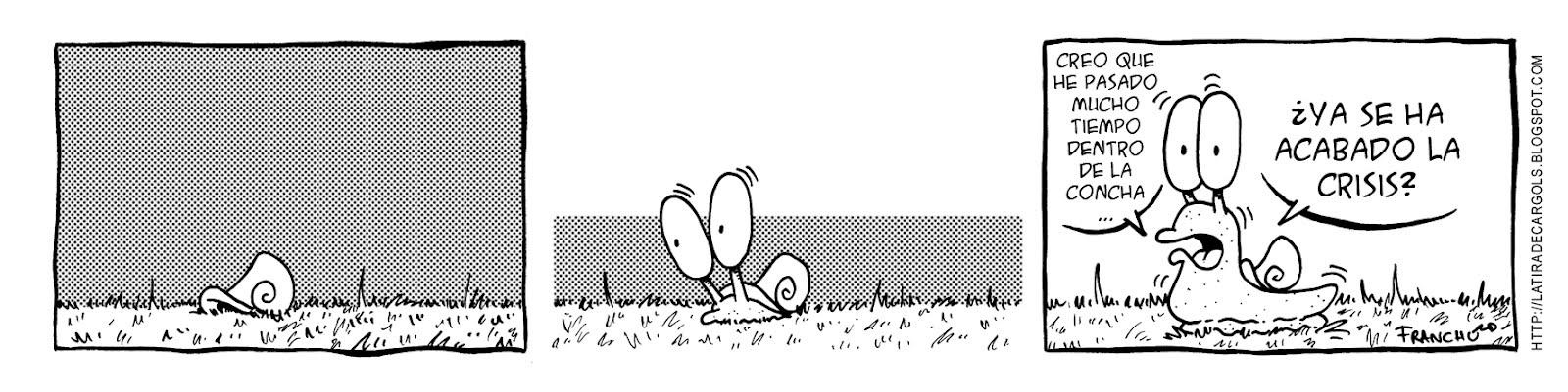Tira comica 175 del webcomic Cargols del dibujante Franchu de Barcelona