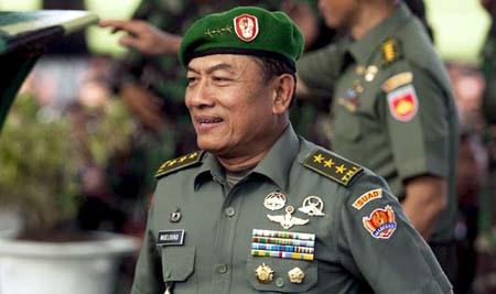 Letnan Jenderal TNI Moeldoko dilantik
