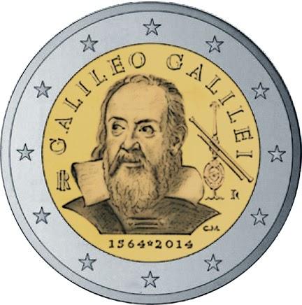2 euro Italy 2014, Galileo Galilei