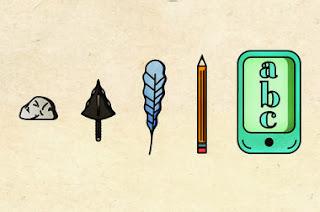 evolution of teaching cartoon