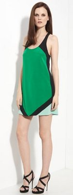 designer colorblock tank dress