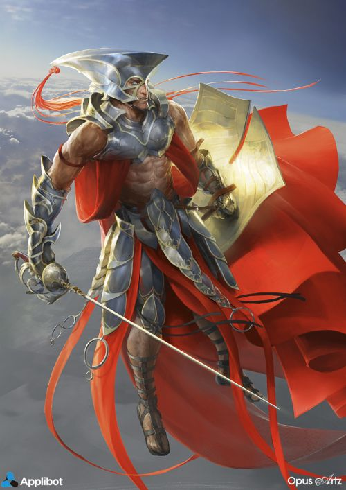 Bjorn Hurri ilustrações artes conceituais fantasia games Applibot - Apostle of soaring light