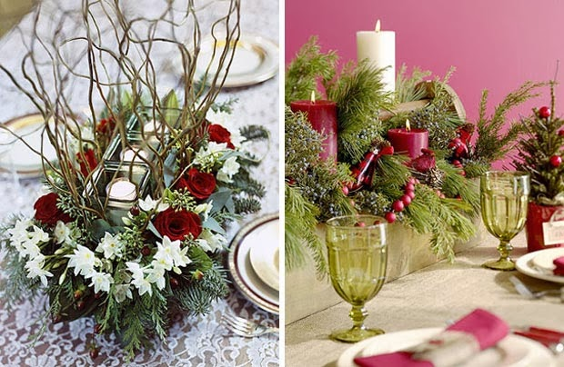 Christmas centerpieces with flowers part 1 - Centro de mesa para navidad ...