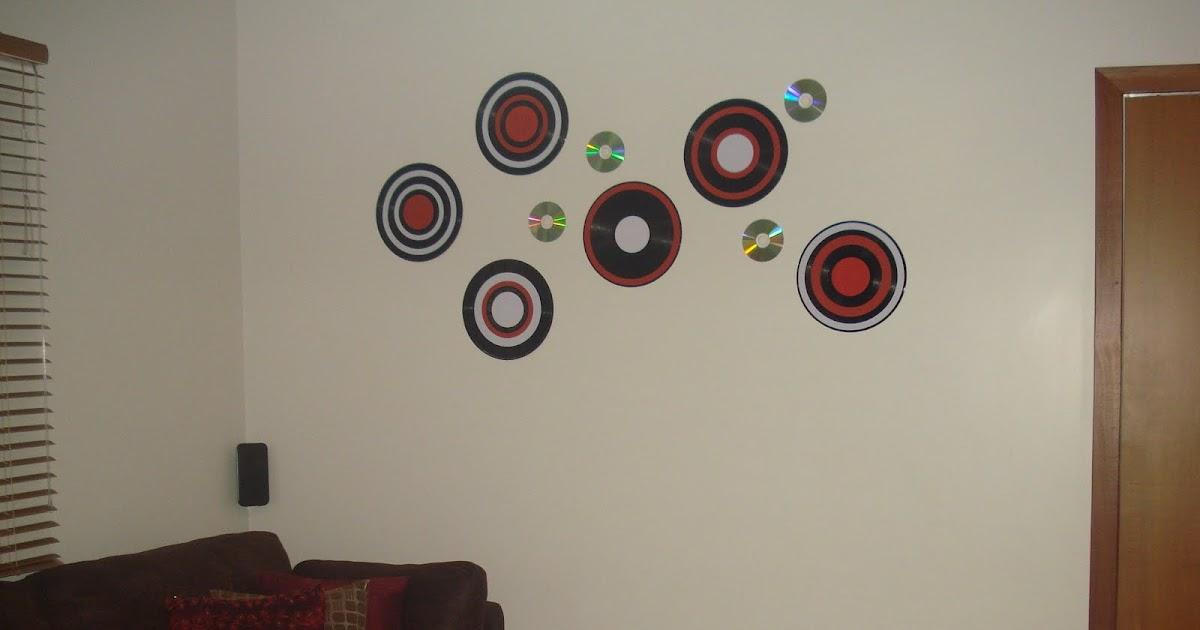 ArteDeCoraç u00e3o Discos de vinil como decoraç u00e3o de parede # Decorar Com Discos De Vinil
