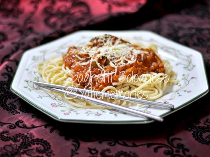 spaghetti bolognese lagi...