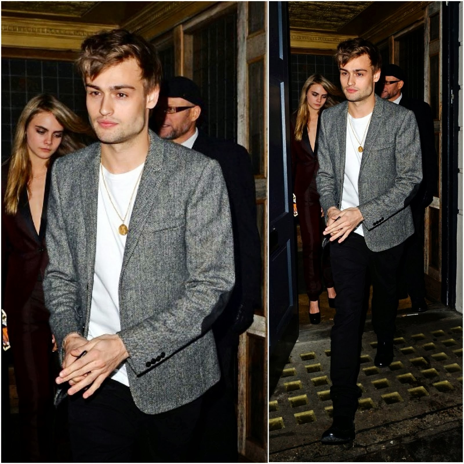 Douglas Booth in Burberry - Harvey Weinstein BAFTA Dinner