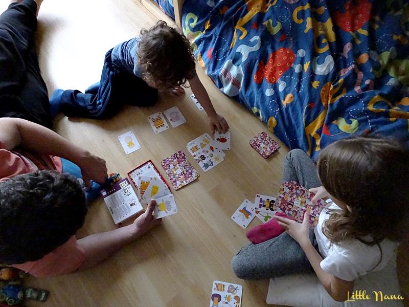 Cartas minimatch Djeco juegos familia