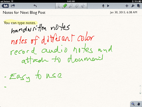 Notability iPhone/iPad Apps for Students for Taking Notes