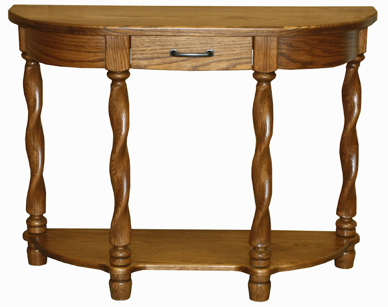 Half Oval Console Table