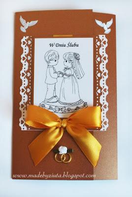 kartka ślubna card making