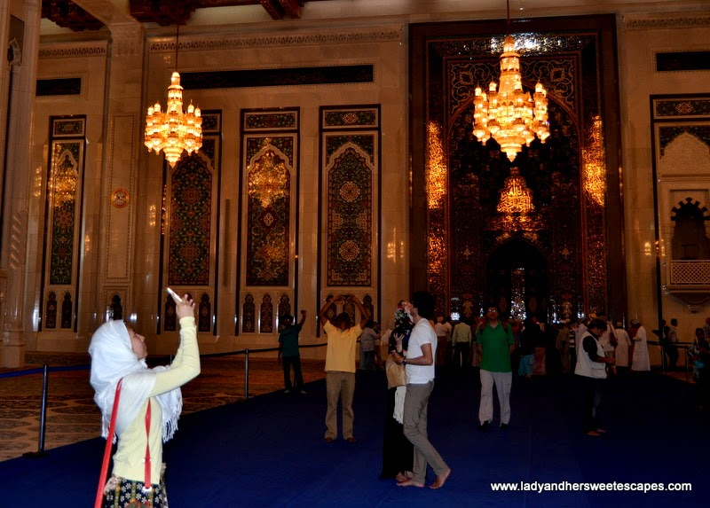 Sultan Qaboos Grand Mosque's main prayer hall