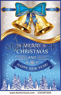 Printable Merry Christmas and a Happy New Year - greeting card