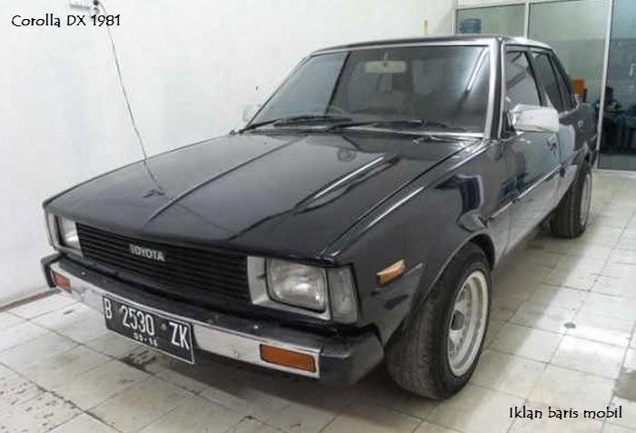 Dijual - Toyota lawas Corolla DX 1981, Iklan baris mobil