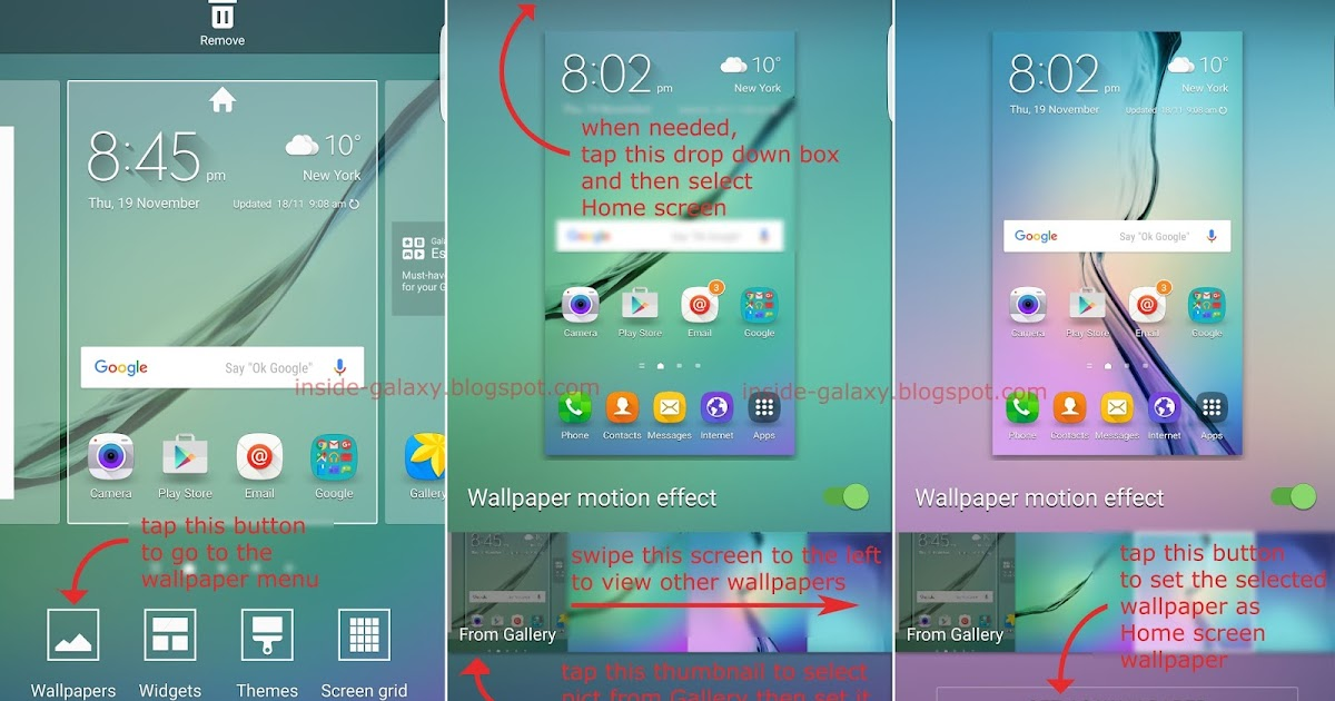 Inside galaxy samsung galaxy s6 edge how to change home for Best home screen wallpaper for android