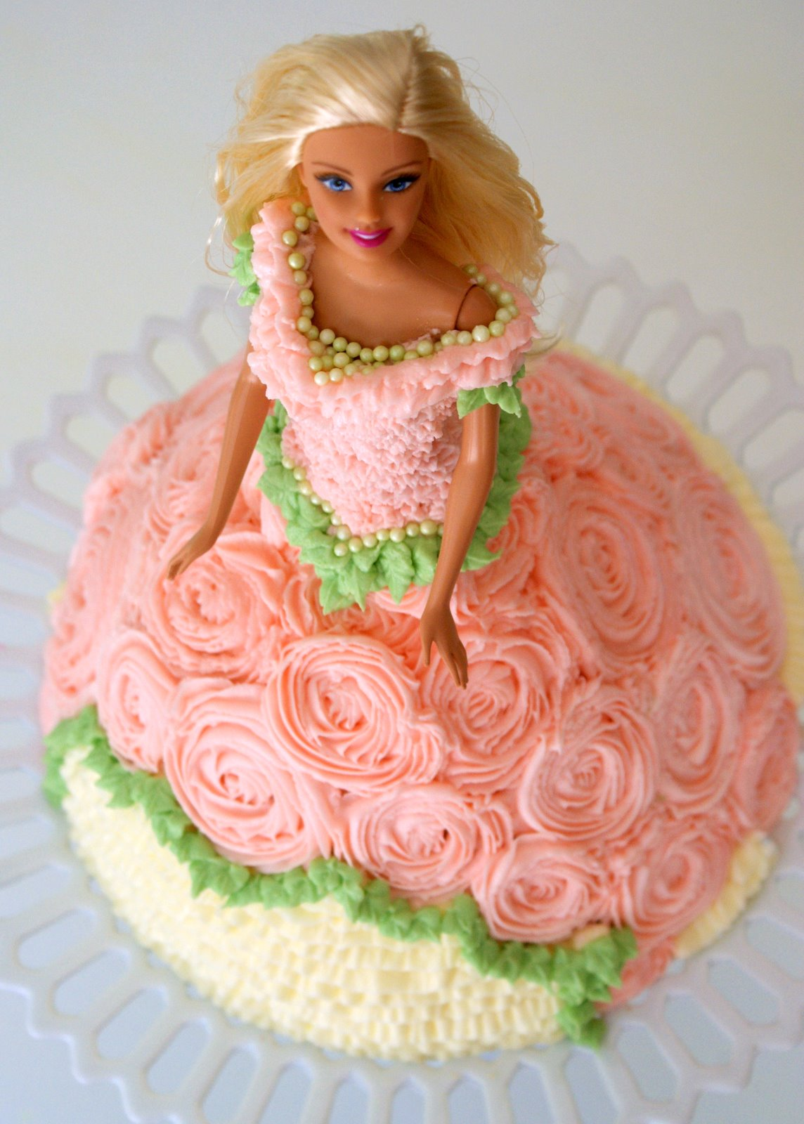 Cake Decoration Doll : A Little Loveliness: Barbie Doll Cake