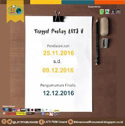 Jadwal Penting LKTI IV Nasional