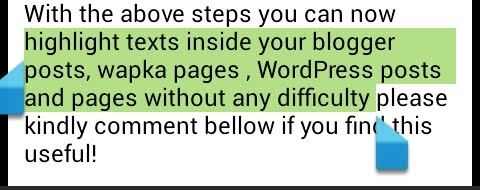 how to highlight texts in your blog posts