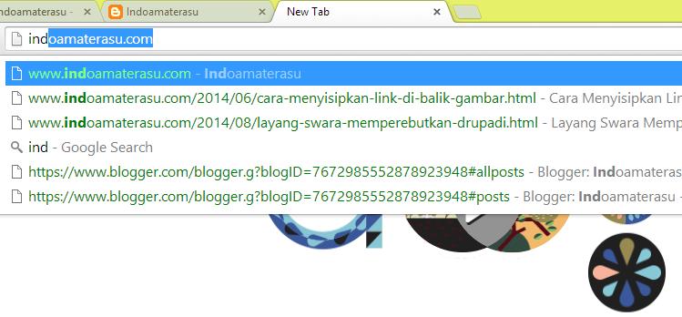 Pencarian Situs melalui Address Bar