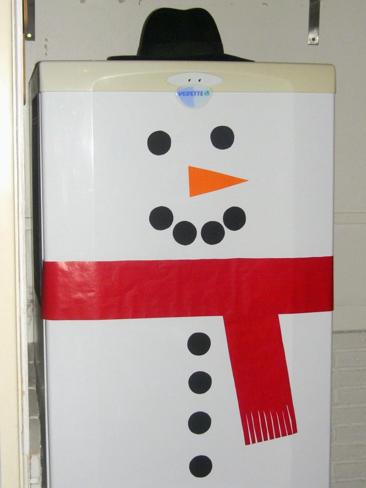 gabulle in wonderland diy du mercredi un bonhomme de neige sur ton frigo. Black Bedroom Furniture Sets. Home Design Ideas