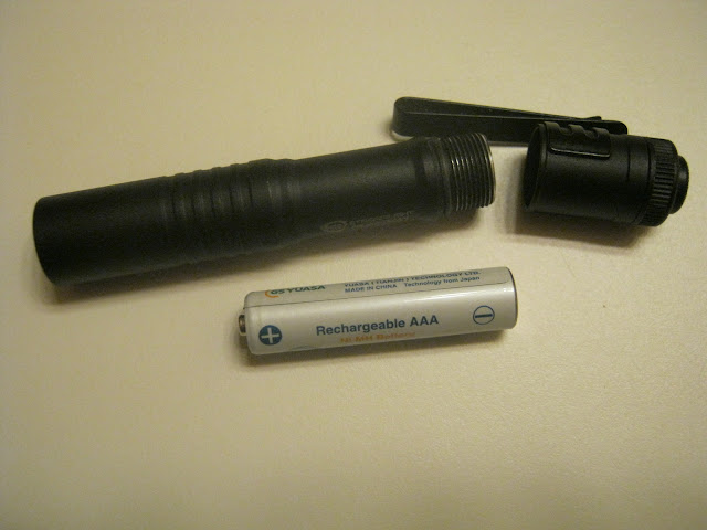 Streamlight Microstream AAA Flashlight opened up