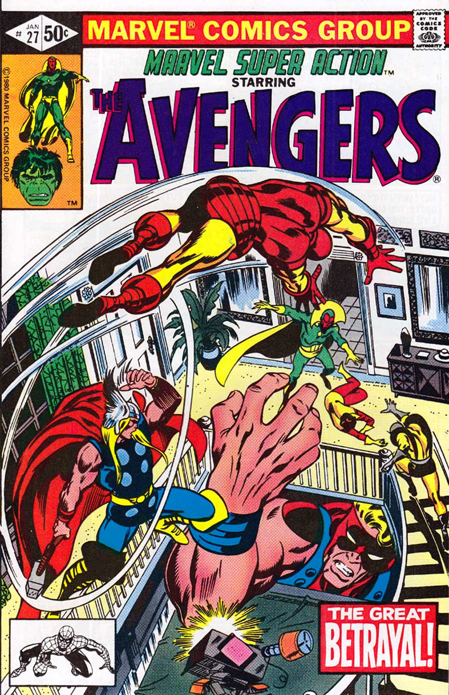 MARVEL SUPER-ACTION: THE AVENGERS # 30 : NM- : APR 1981 : (MARVEL COMICS).
