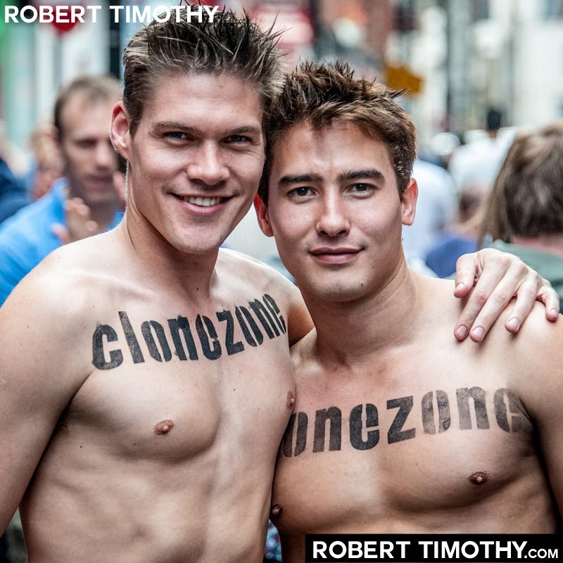 Two guys from CloneZone spotted on Old Compton Street in London during 2012 World Pride celebrations