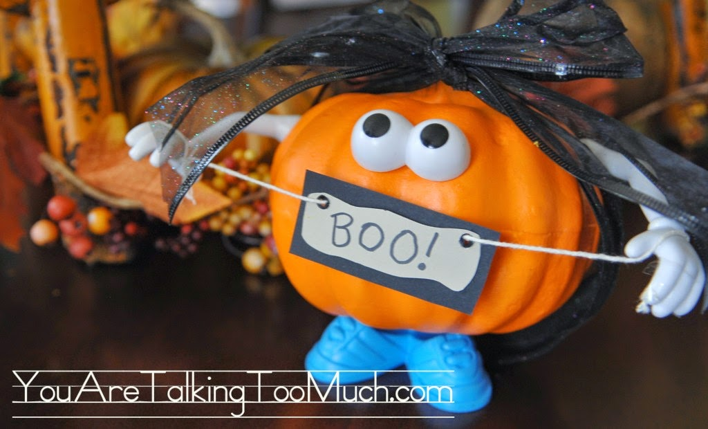 Mr. Potato Head 99 Cent store pumpkin 31 other Kid friendly Halloween ideas! Clever Nest with Hometalk #toddler #roundup #costume