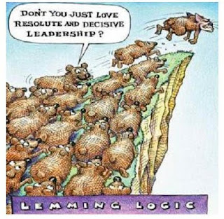 loon pond: The bromancer's love for Malware on a sound ... Obama Lemmings Jumping Off A Cliff