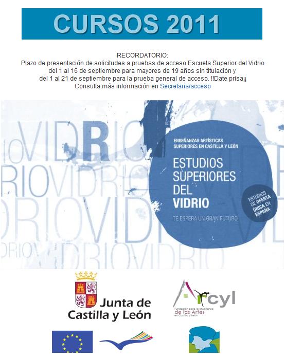 Vidrio cursos de t cnicas vidrieras fundaci n centro - Centro nacional del vidrio ...