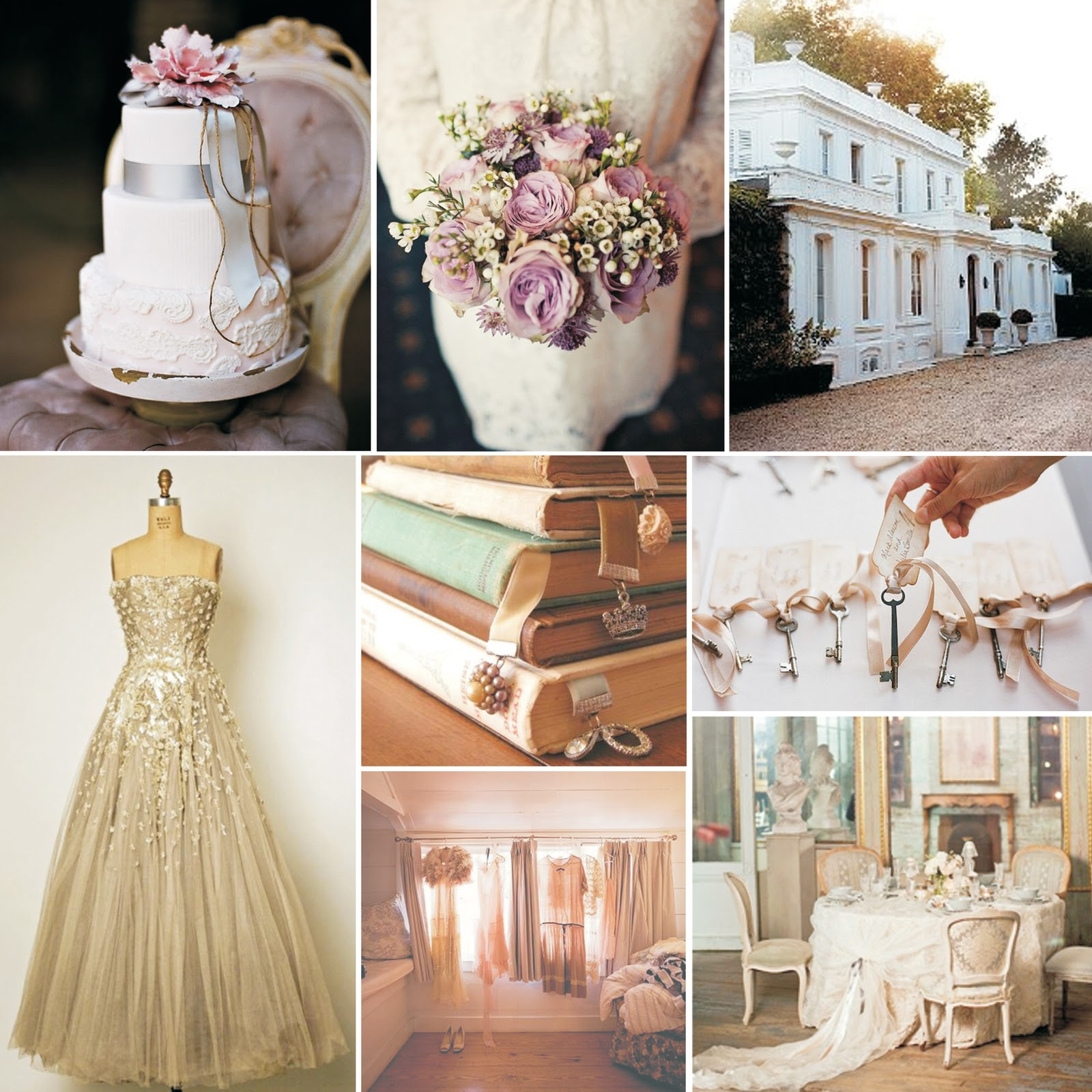 vintage - Country Style Wedding Cakes